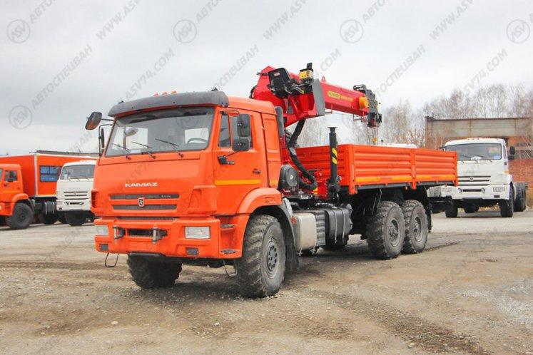 Фото: Бортовой автомобиль КАМАЗ 43118-3090-50 с КМУ ИТ-180 (тросовый)