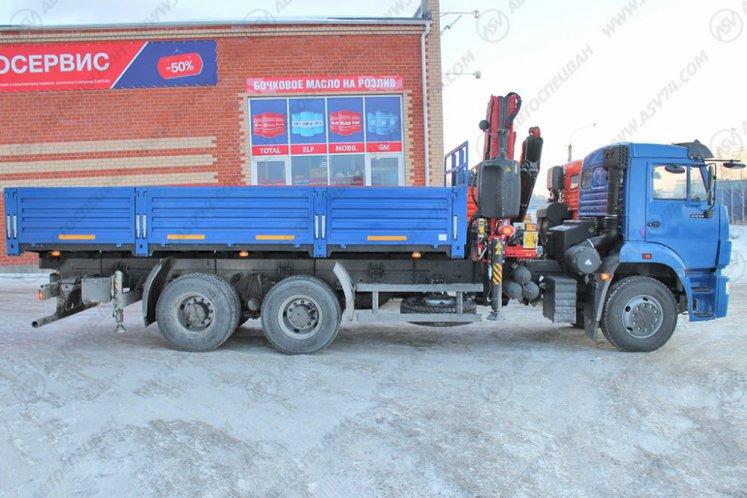 Фото: Бортовой автомобиль КАМАЗ 6520-3072-43 с КМУ Fassi F275A.0.22