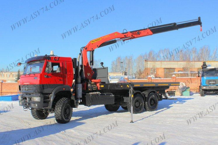Фото: Бортовой автомобиль КАМАЗ 6522 с КМУ PK23500 (контейнеровоз)