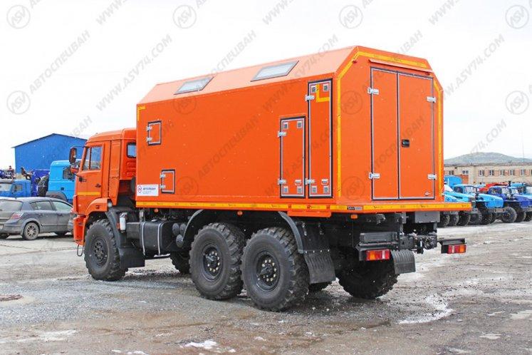 Фото: Передвижная мастерская КамАЗ 43118-3027-46 с токарным станком