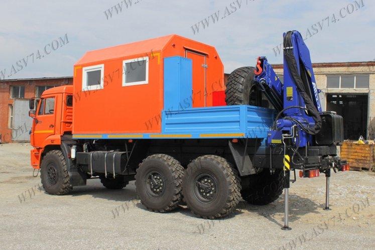 Фото: Агрегат ремонта и обслуживания качалок КАМАЗ 43118 с КМУ АНТ 12.2