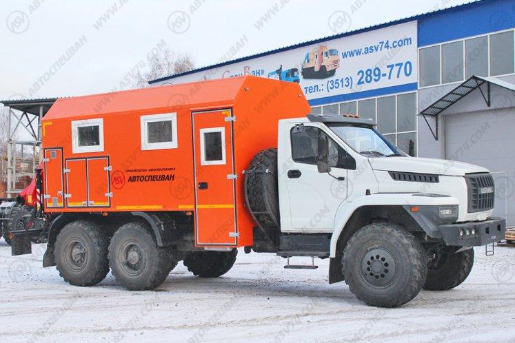 Фото: Передвижная мастерская АСВ 7721G3 Урал NEXT с КМУ FASSI F95A.0.22