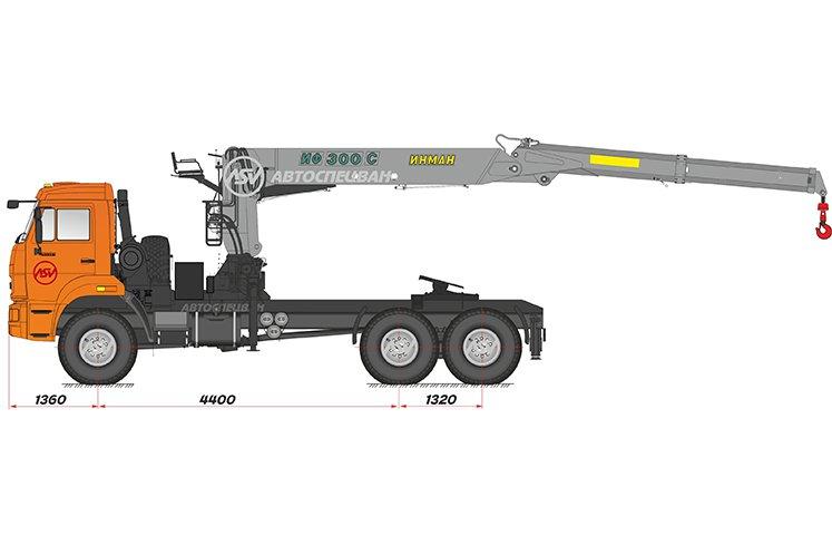 Фото: Седельный тягач КАМАЗ 43118-46 (53504-46) с КМУ ИФ-300