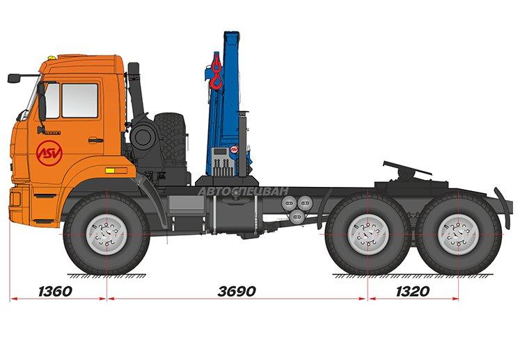 Фото: Седельный тягач КАМАЗ 43118-46 (53504-46) с КМУ ИМ-150