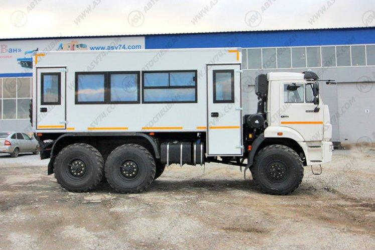 Фото: Вахтовый автобус АСВ 7721 КАМАЗ 43118-3027-50, 22 места