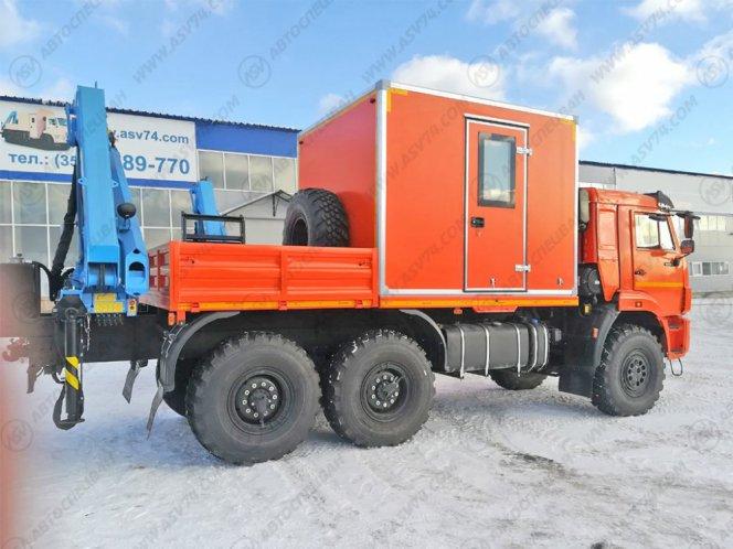 Фото: Передвижная мастерская ПАРМ КамАЗ 43118-3027-50 с токарным станком и КМУ ИМ-95