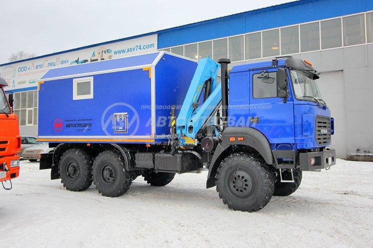 Фото: ПАРМ с токарным станком и КМУ ИМ-95, Урал 4320-4151-81М