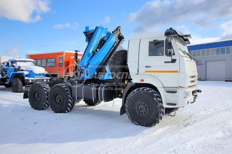 Фото: Седельный тягач КАМАЗ 43118-50 с КМУ ИМ-180-05