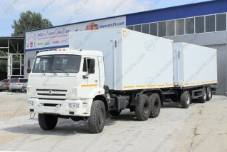 Фото: Фургон изотермический КамАЗ 65111 - Автопоезд