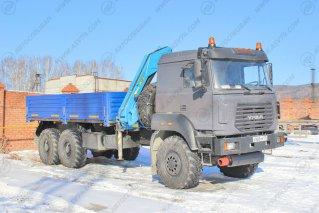 Фото: Бортовой Урал 4320-80М (бескапотный) с КМУ ИМ 150