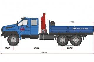 Фото: Бортовой автомобиль Урал 4320 NEXT (сдвоенная кабина) с КМУ ИМ-150N