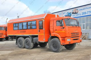 Фото: Автобус вахтовый под ЖД габарит с грузовым отсеком АСВ 7721, 22 места КАМАЗ 43118-3027-46