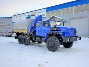 Фото: Бортовой автомобиль Урал 4320-1982-60 (сдвоенная кабина) с КМУ АНТ 12.2