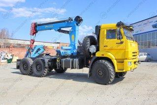 Фото: Седельный тягач КамАЗ 43118-3086-50 с КМУ ИМ-240А (тросовый)