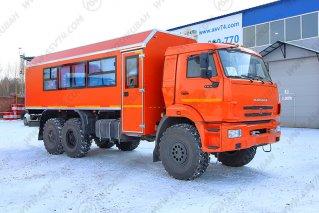 Фото: Вахтовый автобус с грузовым отсеком АСВ7721 КАМАЗ 43118-3027-50, 22 места (ЖД габарит)