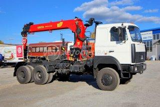 Фото: Седельный тягач МАЗ 6317F9 c КМУ ИТ-150