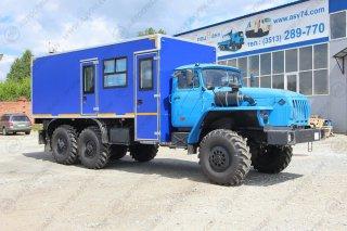 Фото: Вахтовый автобус с грузовым отсеком, Урал 4320-1912-60Е5, 8 мест