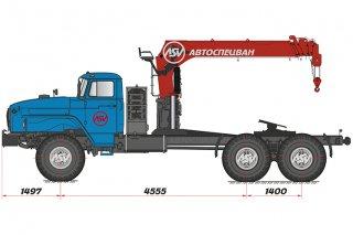 Фото: Седельный тягач Урал 4320 с КМУ IT-150 (тросовый)