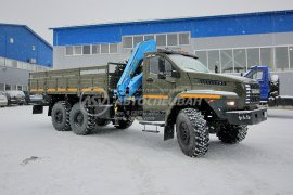 фото: Бортовой автомобиль Урал 4320 NEXT (капотный) с КМУ ИМ-150