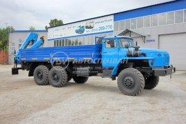 фото: Бортовой автомобиль Урал 4320 (капотный) с КМУ ИМ-95 на заднем свесе рамы